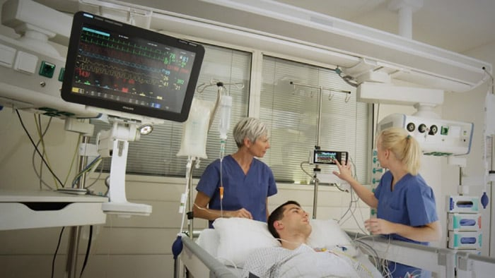 Philips IntelliVue X3: Continuous patient data
