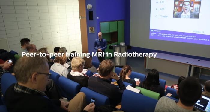 Peer-to-peer training MRI in RT