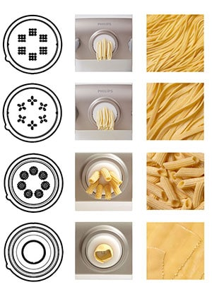 Philips pasta maker comes with unique discs