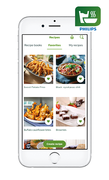 Philips NutriU recipes app