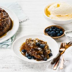 Self-saucing sticky date pudding