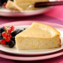 Ricotta and lemon cheesecake