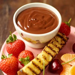 Boozy chocolate & cherry fondue