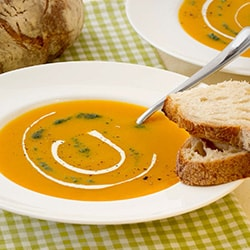 Carrot and mango soup