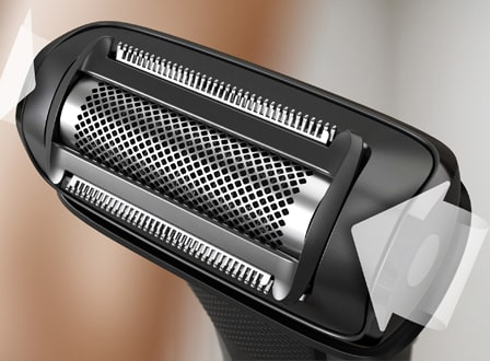 Dual Side Design on the Philips Body Groomer
