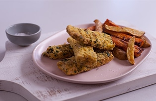 Polenta Macadamia Fish Goujons with Paprika Home-Cut Chips with Dr Joanna McMilan