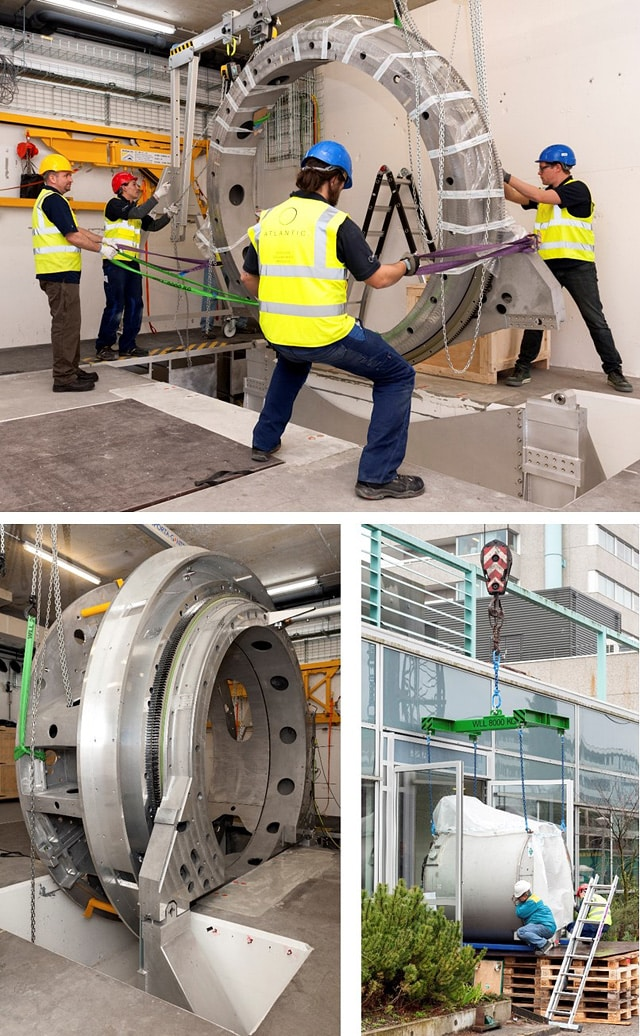 Installation of MR-guided linear accelerator